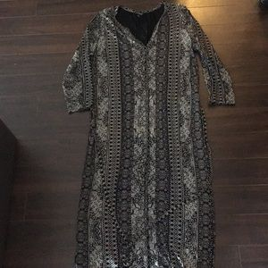 Lucky Brand 3/4 Sleeves Dress